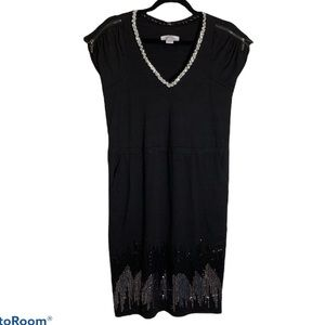 Jessica Simpson black and silver sequin dress